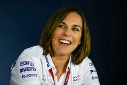 Claire Williams, Vice Team Principal, Williams Martini Racing, nella conferenza stampa dei team principal