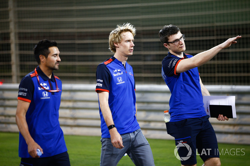 Track walk with Brendon Hartley, Toro Rosso