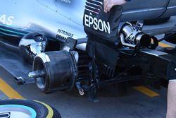 McLaren MCL33, dettaglio della sospensione posteriore