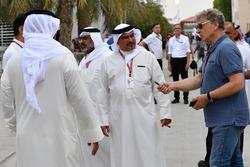 الشيخ سالمان بن حمد الخليفة وهيرمان تيلك