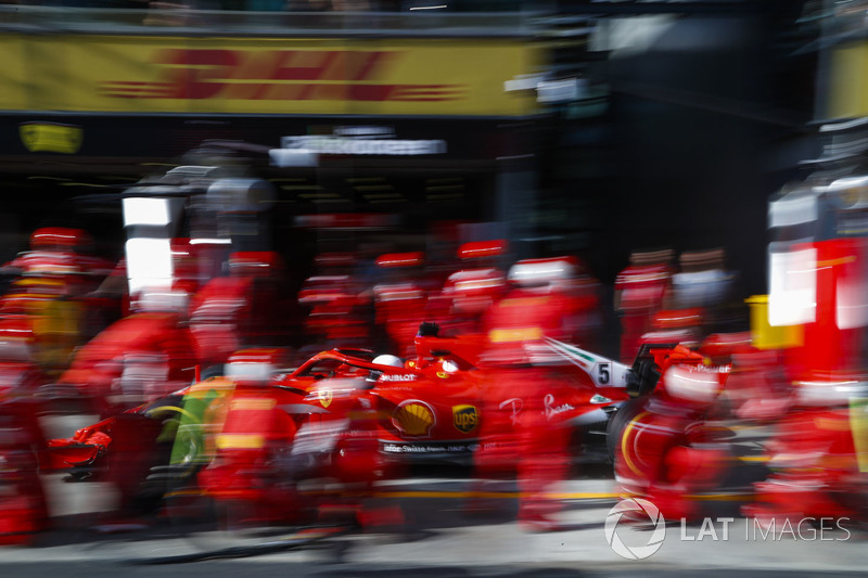 Пит-стоп: Себастьян Феттель, Ferrari SF71H