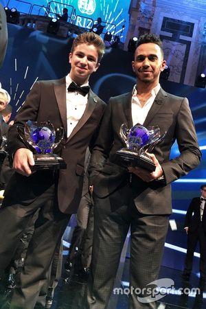 Bruno Carneiro e Lewis Hamilton
