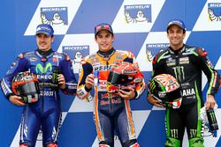 Pole pozisyonu Marc Marquez, Repsol Honda Team, . sıra Maverick Viñales, Yamaha Factory Racing, 3. s