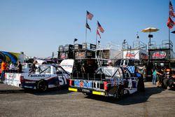 Brandon Jones, Kyle Busch Motorsports, Toyota Tundra SoleusAir/Menards and Todd Gilliland, Kyle Busch Motorsports, Toyota Tundra Mobil 1