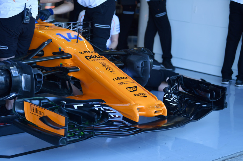 McLaren MCL33, orrkúp és első szárny