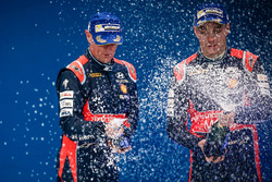 Podium: tweede Hayden Paddon, John Kennard, Hyundai i20 WRC, Hyundai Motorsport