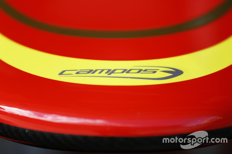 Campos Racing logo on nose cone