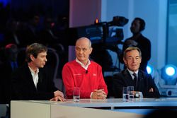 Pascal Vasselon, Toyota Racing and Dr. Wolfgang Ullrich, Audi Sport, president of the FIA Endurance