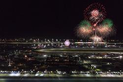 Les feux d'artifice au Daytona International Speedway