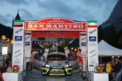 Marco Signor, Patrick Bernardi, Ford Fiesta WRC, Sama Racing festeggiano la vittoria