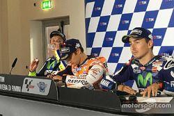Konferensi pers GP San Marino: Valentino Rossi, Dani Pedrosa dan Jorge Lorenzo