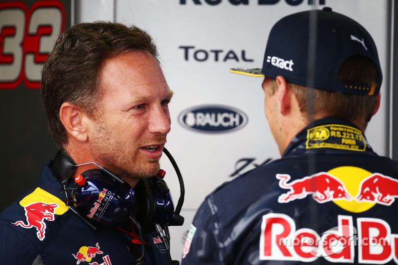 Christian Horner, Red Bull Racing Takım Patronu ve Max Verstappen, Red Bull Racing