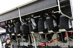 Le muret des stands de Sahara Force India F1
