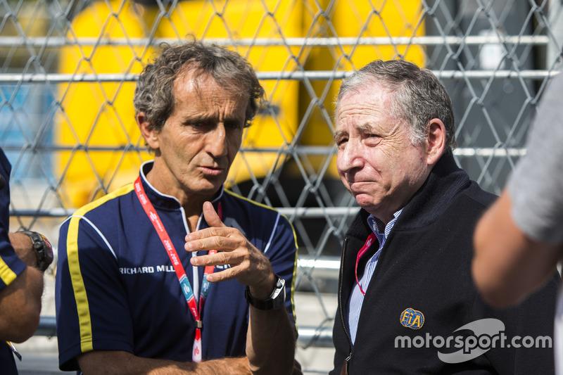 Alain Prost con Jean Todt, FIA President
