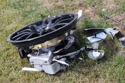 Parts after the crash in race 2