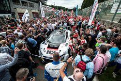 Parrilla de salida, #74 ISR, Audi R8 LMS: Philippe Giauque, Henry Hassid, Nicolas Lapierre, Franck P