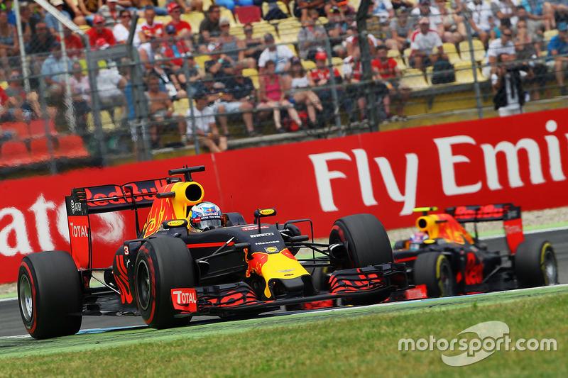 Daniel Ricciardo venceu o duelo interno na Red Bull e terminou em segundo.