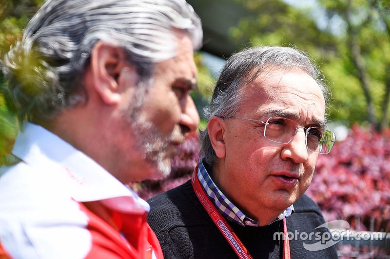 Sergio Marchionne, Presidente Ferrari e CEO di Fiat Chrysler Automobiles e Maurizio Arrivabene, Ferr