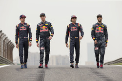 Daniel Ricciardo, Red Bull Racing, Daniil Kvyat, Red Bull Racing, Max Verstappen, Scuderia Toro Ross