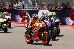 Marc Marquez, Repsol Honda Team, au départ