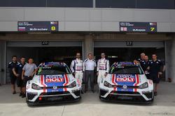 Mikhail Grachev, Volkswagen Golf TCR, Liqui Moly Team Engstler y Davit Kajaia, Volkswagen Golf GTI TCR Liqui Moly Team Engstler