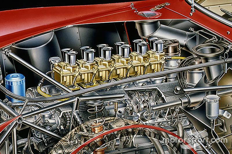 Schnittzeichnung: Ferrari 250 GTO