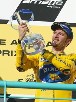 Podium: third place Max Biaggi, Pramac Pons