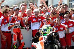 Race winner Andrea Iannone, Ducati Team, second place Andrea Dovizioso, Ducati Team