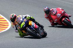 Valentino Rossi, Honda Team and Max Biaggi, Yamaha Team