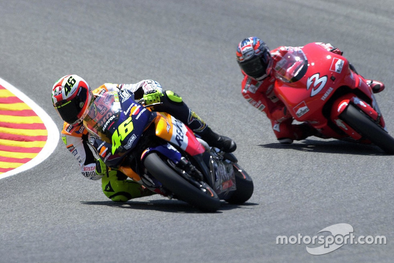 Valentino Rossi, Honda Team y Max Biaggi, Yamaha Team