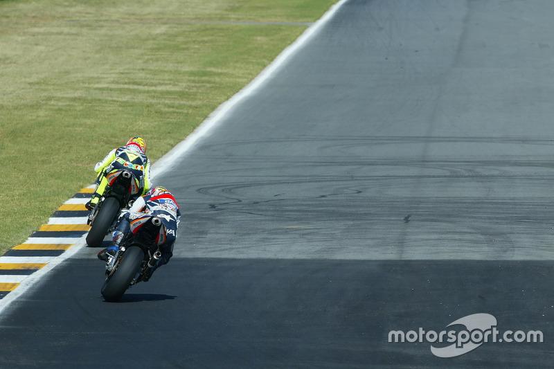 Valentino Rossi, Repsol Honda Team; Tohru Ukawa, Repsol Honda Team