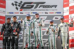 Podium: race winners #8 Absolute Racing Bentley Continental GT3: Jonathan Venter, Keita Sawa, second