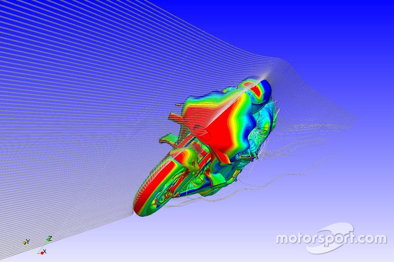 Representación de la aletilla de Ducati Team CFD