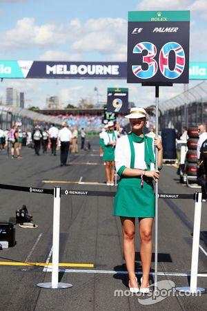 La Grid Girl de Jolyon Palmer, Renault Sport F1 Team