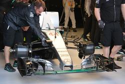 Aileron avant de la monoplace de Lewis Hamilton, Mercedes AMG F1 Team W07