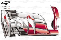 L'aileron avant de la Ferrari SF16H pour le GP d'Australie