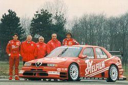 Teampräsentation Alfa Corse TV Spielfilm mit Christian Danner und Giancarlo Fisichella