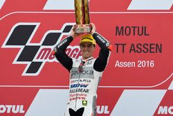 Podium: winner Francesco Bagnaia, Aspar Team Mahindra