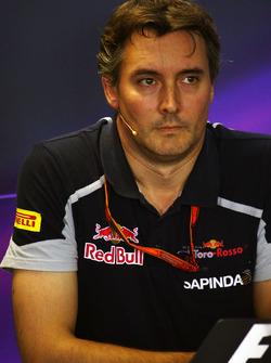 James Key, directeur technique Scuderia Toro Rosso lors de la conférence de presse de la FIA