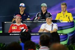 Pressekonferenz: Marcus Ericsson, Sauber; Nico Hülkenberg, Sahara Force India F1; Kevin Magnussen, R
