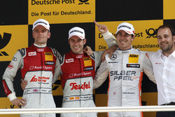 Podium: secon place Jamie Green, Audi Sport Team Rosberg, Audi RS 5 DTM; Winner Miguel Molina, Audi