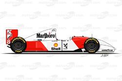 McLaren MP4-8 conducido por Ayrton Senna