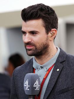 Steve Jones. Channel 4 F1 Presentador