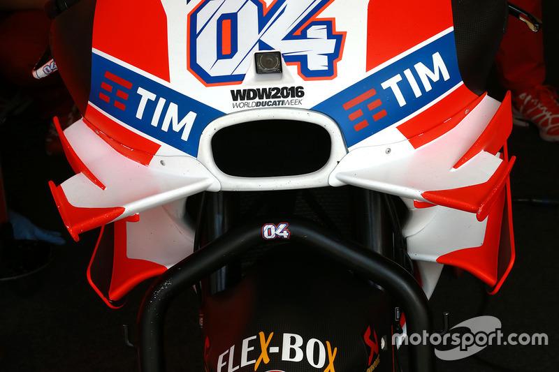 Detail winglet Ducati Team