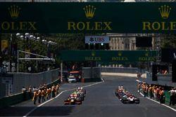 Антонио Джовинацци, PREMA Racing и Нобухару Мацушита, ART Grand Prix на первом ряду стартовой решетк