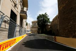 A view of the narrowest part of the circuit