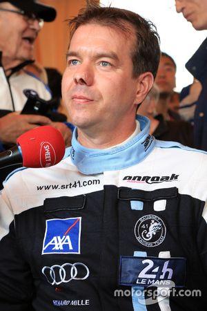 #84 SRT41 by Oak Racing Morgan - Nissan: Frédéric Sausset és a média