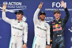 Polesitter Lewis Hamilton, Mercedes AMG F1 Team, 2. Platz Nico Rosberg, Mercedes AMG F1 Team, 3. Pla