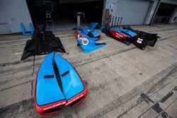 Jenzer Motorsport body work in the pit lane