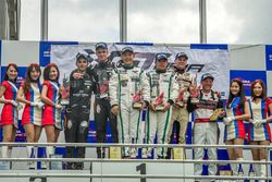 Podium: winner #5 Phoenix Racing Audi R8 LMS GT3: Marchy Lee, Shaun Thong, second place #37 BBT Ferrari 488 GT3: Davide Rizzo, Anthony Liu, third place #7 Absolute Racing Bentley Continental GT3: Adderly Fong, Andrew Kim